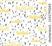 baby seamless pattern with... | Shutterstock .eps vector #1141795043
