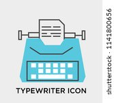 typewriter icon vector isolated ... | Shutterstock .eps vector #1141800656
