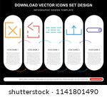 5 vector icons such as close ...