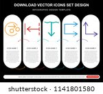 5 vector icons such as divide ...