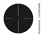 black score target for shooting ... | Shutterstock .eps vector #1141803680