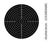 black score target for shooting ... | Shutterstock .eps vector #1141803680
