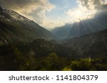 alps mountains landscape during ... | Shutterstock . vector #1141804379