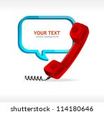 phone receiver as text box | Shutterstock .eps vector #114180646