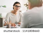 business people discussion... | Shutterstock . vector #1141808660