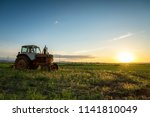 hdr image of old rusty tractor... | Shutterstock . vector #1141810049