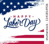 usa labor day greeting card...