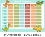 template school timetable.... | Shutterstock .eps vector #1141815683