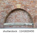 Old Red Brick Wall With An Arc...