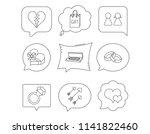 love heart  gift box and... | Shutterstock .eps vector #1141822460