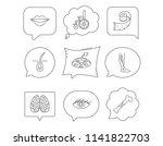eye  neurology brain and vein... | Shutterstock .eps vector #1141822703