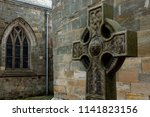 stone cross with celtic... | Shutterstock . vector #1141823156