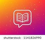 book icon. study literature... | Shutterstock .eps vector #1141826990