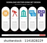 5 vector icons such as atomic... | Shutterstock .eps vector #1141828229