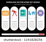 5 vector icons such as monthly... | Shutterstock .eps vector #1141828256