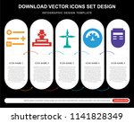 5 vector icons such as... | Shutterstock .eps vector #1141828349