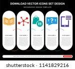 5 vector icons such as book ... | Shutterstock .eps vector #1141829216