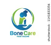 bone health logo designs... | Shutterstock .eps vector #1141833356