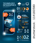infographics set and... | Shutterstock .eps vector #114183580