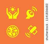 science icon set. with... | Shutterstock .eps vector #1141836683