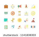 set of startup flat icons...
