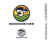 mushroom farm logo design | Shutterstock .eps vector #1141838963