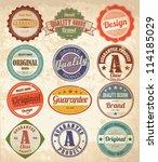 Stock vector vector set vintage labels 114185029