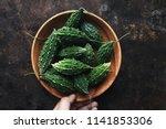 wild bitter gourd  bitter... | Shutterstock . vector #1141853306