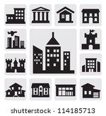 houses icons | Shutterstock .eps vector #114185713
