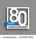 80 years anniversary... | Shutterstock .eps vector #1141857359