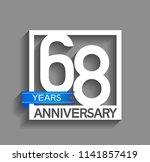 68 years anniversary... | Shutterstock .eps vector #1141857419