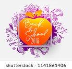 back to school ink splash... | Shutterstock .eps vector #1141861406
