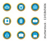 drawer icons set. flat set of 9 ... | Shutterstock .eps vector #1141865606