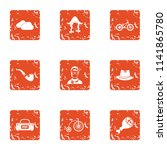 external icons set. grunge set... | Shutterstock .eps vector #1141865780