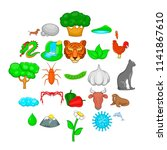 domesticated animal icons set.... | Shutterstock .eps vector #1141867610