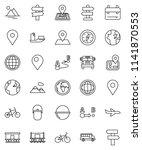 thin line vector icon set  ... | Shutterstock .eps vector #1141870553