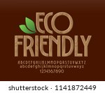 vector natural wood eco... | Shutterstock .eps vector #1141872449