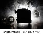 old style movie projector ... | Shutterstock . vector #1141875740
