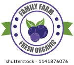 blueberry logo.  vector round... | Shutterstock .eps vector #1141876076