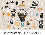 big set of kawaii funny... | Shutterstock .eps vector #1141882613