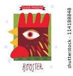 rooster.  horoscope vector... | Shutterstock .eps vector #114188848