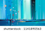 abstract colorful oil painting...   Shutterstock . vector #1141890563