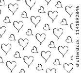 grunge cute heart love symbol... | Shutterstock .eps vector #1141892846