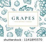 hand drawn grapes illustration... | Shutterstock .eps vector #1141895570