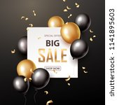 sale banner with black and... | Shutterstock .eps vector #1141895603