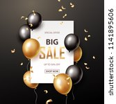 Sale Banner With Black And...