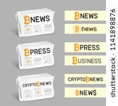 crypto newspapers bitcoin... | Shutterstock . vector #1141898876
