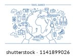 concept of travel and tourism.... | Shutterstock . vector #1141899026