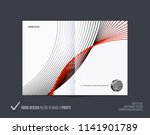 abstract double page brochure...   Shutterstock .eps vector #1141901789