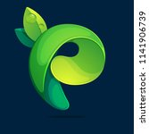 p letter ecology logo from a... | Shutterstock .eps vector #1141906739